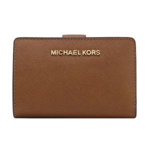 【ポイント2%】マイケルコース MICHAEL KORS 財布 二つ折り財布 35F7GTVF2L LUGGAGE ウォレット アウトレット レディース|hommage