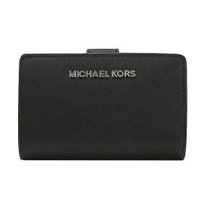 【ポイント2%】マイケルコース MICHAEL KORS 財布 二つ折り財布 35F7STVF2L BLACK ウォレット アウトレット レディース|hommage