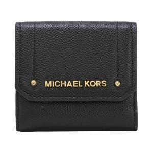 【ポイント2%】マイケルコース MICHAEL KORS 財布 三つ折り財布 35F8GYEF2L BLACK ウォレット アウトレット レディース|hommage