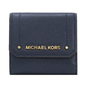 【ポイント2%】マイケルコース MICHAEL KORS 財布 三つ折り財布 35F8GYEF2L NAVY ウォレット アウトレット レディース|hommage