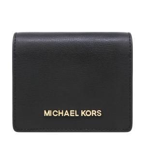 【ポイント2倍】マイケルコース MICHAEL KORS 財布 二つ折り財布 小物 カードケース 35H7GTVD2L BLACK ウォレット アウトレット レディース|hommage