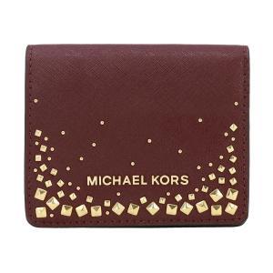 【ポイント2倍】マイケルコース MICHAEL KORS 財布 二つ折り財布 35H8GGFF6L MERLOT ウォレット アウトレット レディース|hommage