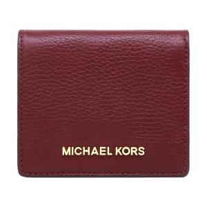 【キャッシュレス5%+P7%】マイケルコース MICHAEL KORS 財布 二つ折り財布 35H8GTVD2L MERLOT ミニ財布 アウトレット レディース ウォレット クリスマス|hommage