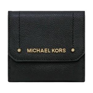 【ポイント10倍】マイケルコース MICHAEL KORS 財布 三つ折り財布 35H8GYEF2L BLACK ミニ財布 アウトレット レディース ウォレット 新作|hommage
