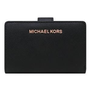 【ポイント10倍】マイケルコース MICHAEL KORS 財布 二つ折り財布 35T9RTVF2L BLACK ウォレット アウトレット レディース|hommage