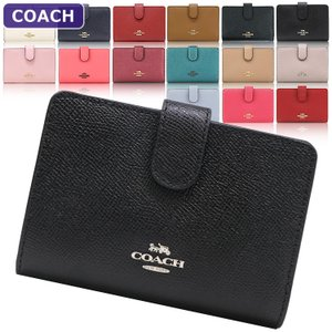 【ポイント2倍】コーチ COACH 財布 二つ折り財布 F11484 クロスグレイン アウトレット レディース ウォレット 新作