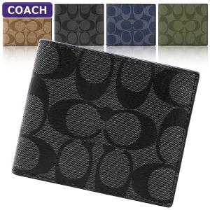 【ポイント2倍】コーチ 二つ折り財布 メンズ レザー COACH F66551 シグネチャー アウトレット|hommage
