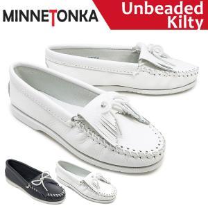 ミネトンカ アンビーデッド 白 革靴 Minnetonka ...