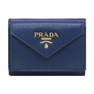 プラダ 三つ折り財布 レディース PRADA 1MH021 2B6P F0016 BLUETTE アウトレット|hommage