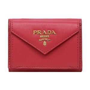 プラダ 三つ折り財布 レディース PRADA 1MH021 2EZZ F0505 PEONIA アウトレット|hommage