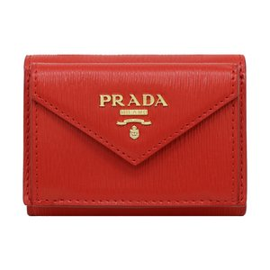 プラダ 三つ折り財布 レディース PRADA 1MH021 2EZZ F0RGA LACCA 1 アウトレット|hommage