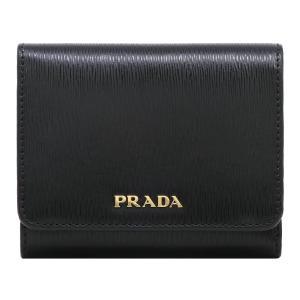 プラダ PRADA 財布 三つ折り財布 ウォレット レディース 1MH176 2BNC F0TMH NERO/LACCA 1 アウトレット|hommage