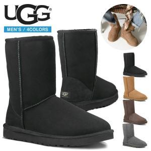 Men's用UGG Australia アグ Classic Short Boots クラシックショートブーツ メンズ QRコードカットなし正規品
