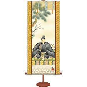 ミニ掛け軸-天神/奥村 精園(専用飾りスタンド付き)和風モダン掛軸 慶祝縁起 コンパクト honakote