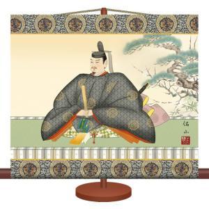 ミニ掛け軸-天神/奥居 佑山(専用飾りスタンド付き)和風モダン掛軸 慶祝縁起 コンパクト honakote