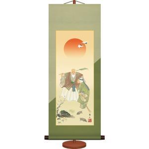 ミニ掛け軸-高砂/鈴村 秀山(専用飾りスタンド付き)和風モダン掛軸 慶祝縁起 コンパクト honakote