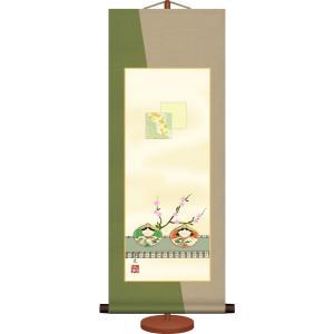 ミニ節句掛け軸-貝雛/井川 洋光(専用飾りスタンド付き)桃の節句 女の子 お祝い|honakote