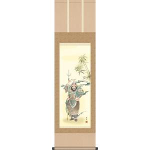 端午の節句画掛軸-鍾馗/鈴木翠朋(尺三)床の間 和室 高級 掛け軸 魔除け モダン オシャレ 吊るす 五月人形|honakote