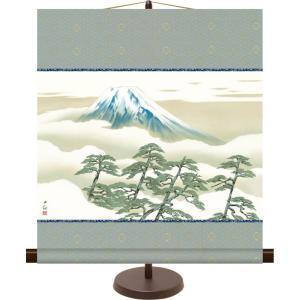 和風モダンミニ掛け軸 日本の名画 松に富士 横山大観 飾りスタンド付き 部屋置き[送料無料] honakote