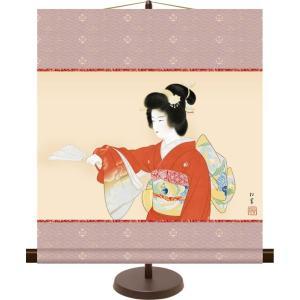 和風モダンミニ掛け軸 日本の名画 序の舞 上村松園 飾りスタンド付き 部屋置き[送料無料] honakote