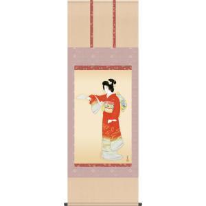 掛け軸 掛軸 序の舞(じょのまい) 上村松園 尺五立 床の間 モダン 巨匠 名作名画複製画 [送料無料]|honakote