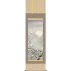 掛軸 掛け軸-宵桜/吉井蘭月 花鳥掛軸送料無料(尺五)春用掛け軸 床の間 和室 おしゃれ モダン ギフト つるす 飾る|honakote