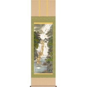 掛軸 掛け軸-養老月五猿之図/森田翔輝 送料無料掛け軸(尺五)縁起画掛軸を床の間に飾る|honakote