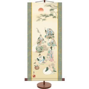 掛け軸 掛軸-七福神/榎本 東山(ミニ掛軸・飾りスタンド付き)贈り物に最適な掛軸セット|honakote