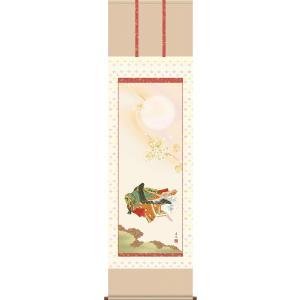 桃の節句画掛け軸で雅な空間を創造する!一幅の掛軸が床の間を高雅に演出いたします! 桃の節句をより一層...