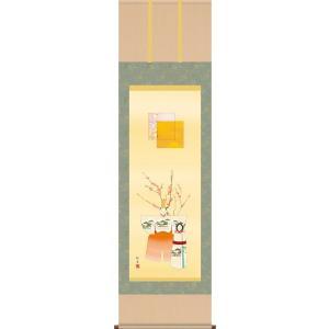 掛け軸-立雛/長江 桂舟[尺五 桐箱 風鎮 和室 床の間 節句画 桃 雛祭り お雛様 女の子 モダン オシャレ 壁掛け 安い 贈物 ギフト 飾る]|honakote