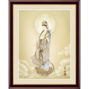 【F6】仏事関連画額 聖観音 鈴木翠朋 和の風情 モダン インテリア 安らぎ 潤い 壁飾り [送料無料] honakote