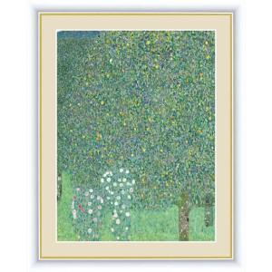 【F6】世界の名画額 木々の下の薔薇 クリムト 有名美術館 レプリカ モダン インテリア  壁掛け 階段飾り [送料無料]|honakote
