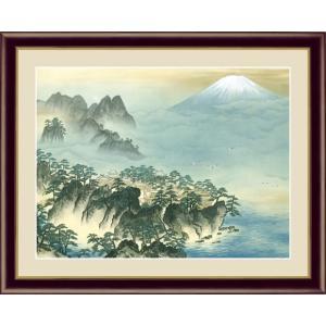 【F6】日本の名画額 蓬莱山(ほうらいざん) 横山大観 モダンアート インテリア 安らぎ 潤い 壁掛け [送料無料]|honakote