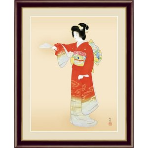 【F6】日本の名画額 序の舞(じょのまい) 上村松園 モダンアート インテリア 安らぎ 潤い 壁掛け [送料無料]|honakote