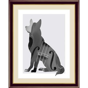 【F6】モノトーンアート絵額 Violin ヴァイオリン 山口美咲 アート インテリア 安らぎ 潤い 壁掛け [送料無料] honakote