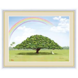【F6】大きな木の風景絵額 モンキーポッド アート インテリア 安らぎ 潤い 壁掛け [送料無料]