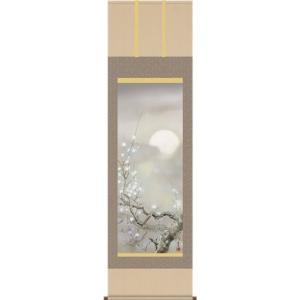 掛軸 掛け軸-宵桜/吉井蘭月 花鳥掛軸送料無料(尺三)春用掛け軸 床の間 和室 おしゃれ モダン ギフト つるす 飾る|honakote