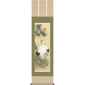 掛軸 掛け軸-松竹梅鶴亀/小野洋舟 おめでたい掛軸送料無料(小さい尺三)祝賀用掛軸を床の間に掛ける|honakote