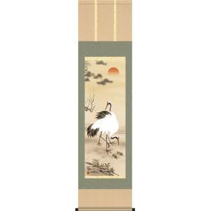 掛軸-松竹梅鶴亀