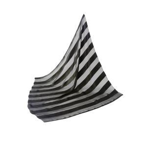 シルクのスカーフ(ストライプ柄) honaminoie