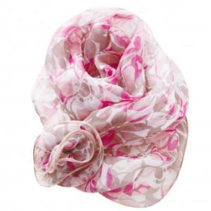シルクのスカーフ(フリル付き)|honaminoie
