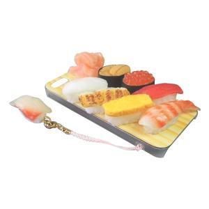 日本職人が作る  食品サンプルiPhone5ケース ミニチュア寿司  ストラップ付き  IP-211|honaminoie