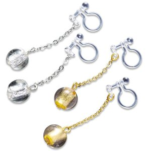 ピアスみたいなイヤリング(金箔・銀箔セット)|honaminoie