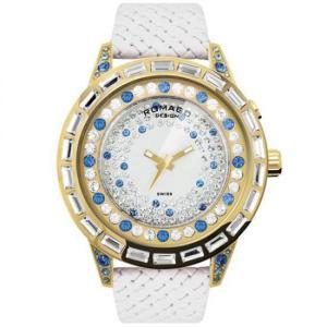 ROMAGO DESIGN (ロマゴデザイン) Dazzle series ダズルシリーズ 腕時計 RM006-1477GD-BU|honaminoie