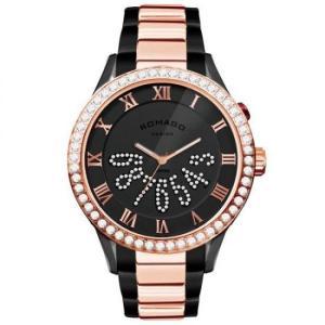 ROMAGO DESIGN (ロマゴデザイン) Luxury series ラグジュアリーシリーズ 腕時計 RM019-0214SS-RGBK|honaminoie