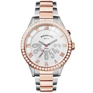 ROMAGO DESIGN (ロマゴデザイン) Luxury series ラグジュアリーシリーズ 腕時計 RM019-0214SS-RGWH|honaminoie