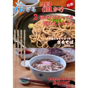 蕎麦 お取り寄せ 日本そば セット 本返しつゆ付 ざるそば & 煮込み かけそば 2種6人前 温冷 ...
