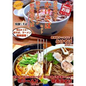 蕎麦 ラーメン お取り寄せ 煮込みそば&鴨そば&鴨ラーメン 3種6人前 セット 鰹だしかけそば 極上鴨スープそば 詰め合わせ 保存食お試しグルメ honba-kyusyu