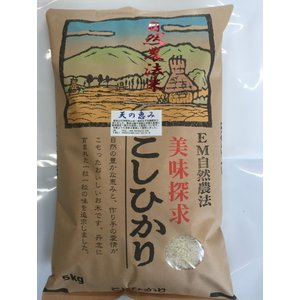 米29年産  自然農法米こしひかり「天の恵み」白米5kg|hondanojo