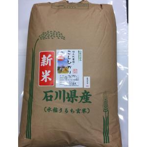 自然農法米 お米 こしひかり 特別栽培米 30年産  「自然の恵み」 食用 玄米 30kg 加賀百万石|hondanojo